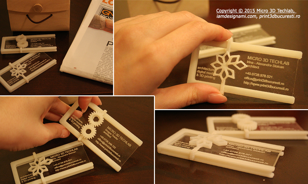 3d printed business cards unusual